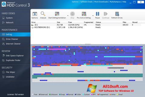 Ekran görüntüsü Ashampoo HDD Control Windows 10