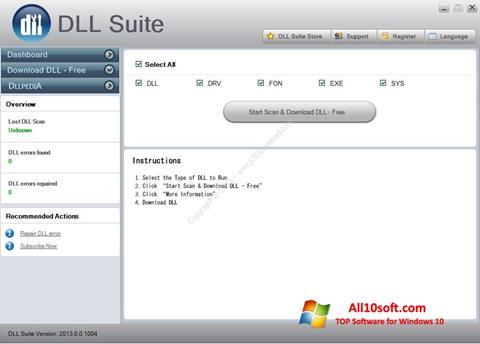 Ekran görüntüsü DLL Suite Windows 10