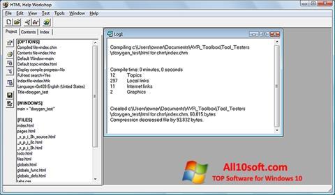 Ekran görüntüsü HTML Help Workshop Windows 10