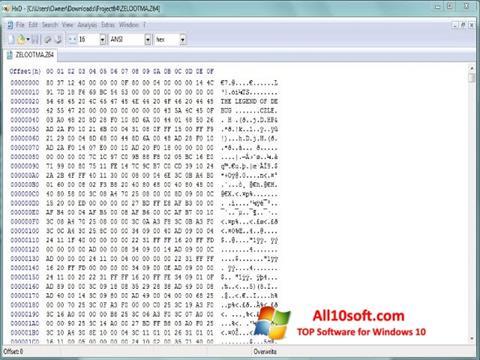 Ekran görüntüsü Hex Editor Windows 10
