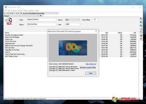 Ekran görüntüsü CDex Windows 10