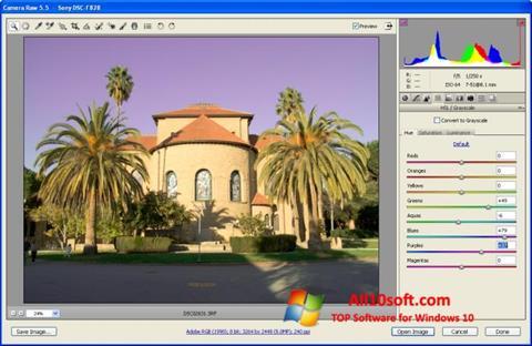 Ekran görüntüsü Adobe Camera Raw Windows 10