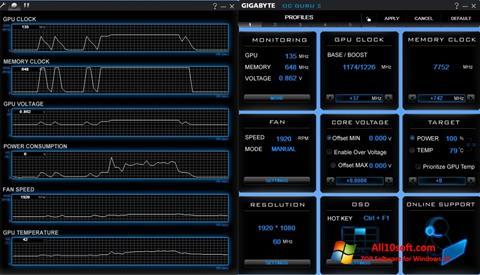 Ekran görüntüsü GIGABYTE OC Guru Windows 10