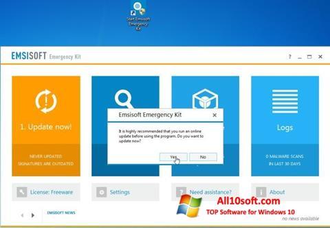 Ekran görüntüsü Emsisoft Emergency Kit Windows 10