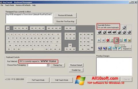 Ekran görüntüsü KeyTweak Windows 10